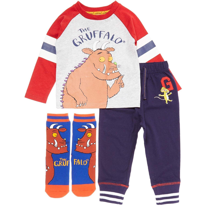 Gruffalo Kids Boys Unisex Toddler TU Ex-Store Cartoon PJ Set Top Bottom & Socks