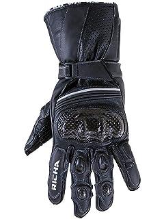 Richa Spark Gants de moto sport d/ét/é ventil/és en cuir noir