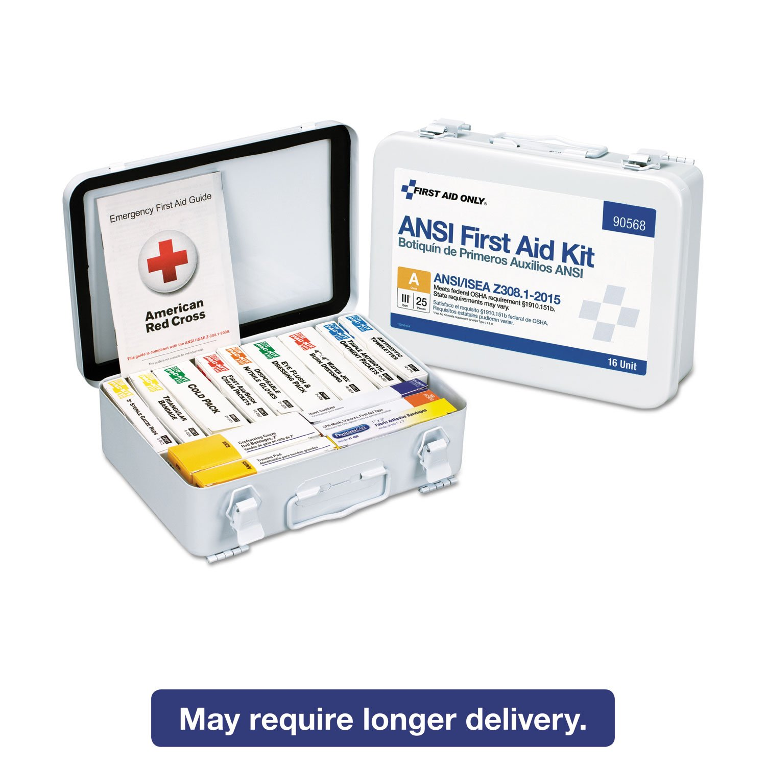 Amazon.com: First Aid Only 90568 Unitized ANSI Compliant Class A Type III First Aid Kit for 25 People, 16 Units: Health & Personal Care