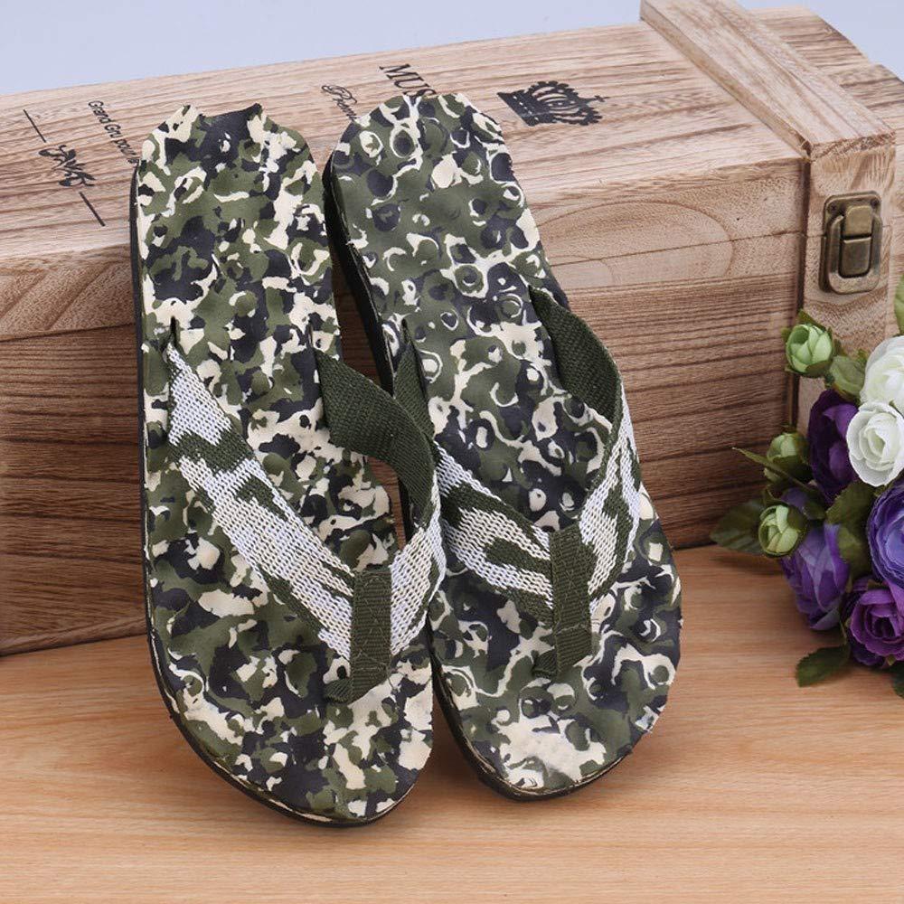 Alaso Tongs Hommes Adulte Sandales d/ét/é Pantoufles Pas Cher Brasil Flip Flops Chaussures de Plage Camouflage Piscine Chaussons