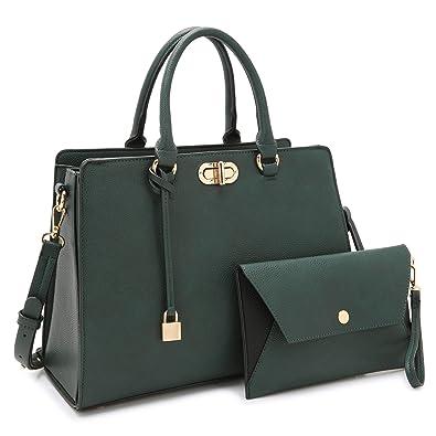 f4f71b150 Amazon.com: Women Designer Handbags and Purses Ladies Shoulder Bag Hobo Bag  Top Handle Satchel Tote Work Bag with Wallet Wristlet (7581 Army Green):  Shoes