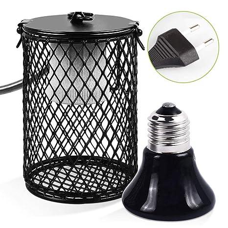 Donpow Lámpara de calefacción de cerámica de Reptiles con ...