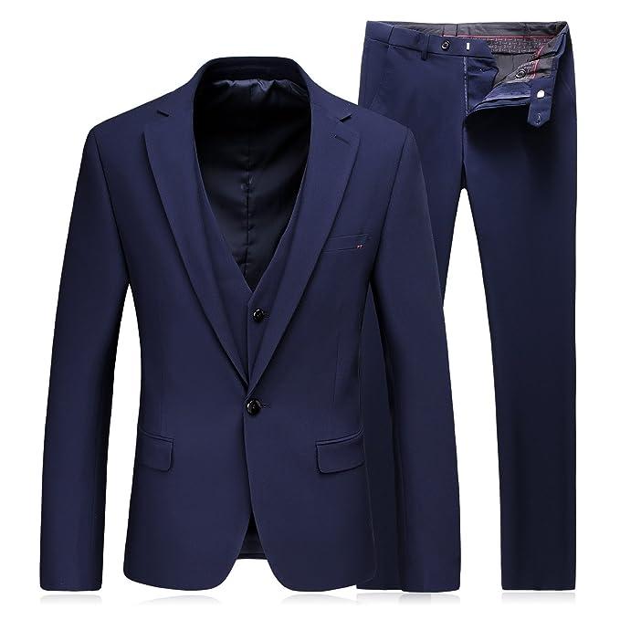 MOGU hombres modernos Moda 3 piezas casual traje de chaqueta y pantalón y  chaleco  Amazon.es  Ropa y accesorios 0ac07b81713f