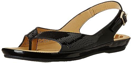 f9eae5869b7979 Image Unavailable. Image not available for. Colour  Carlton London CL  Women s Peg Black Fashion Sandals ...