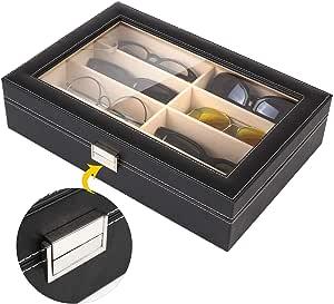 MVPOWER Caja para Gafas con 8 Estuches para Guardar y Almacenar Anteojos, Organizador y Soporte de Gafas de Sol: Amazon.es: Hogar