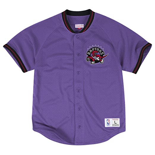 Amazon.com   Toronto Raptors Mitchell   Ness NBA Seasoned Pro 2 Men s  Button Up Jersey Shirt   Sports   Outdoors 35fbaebc1