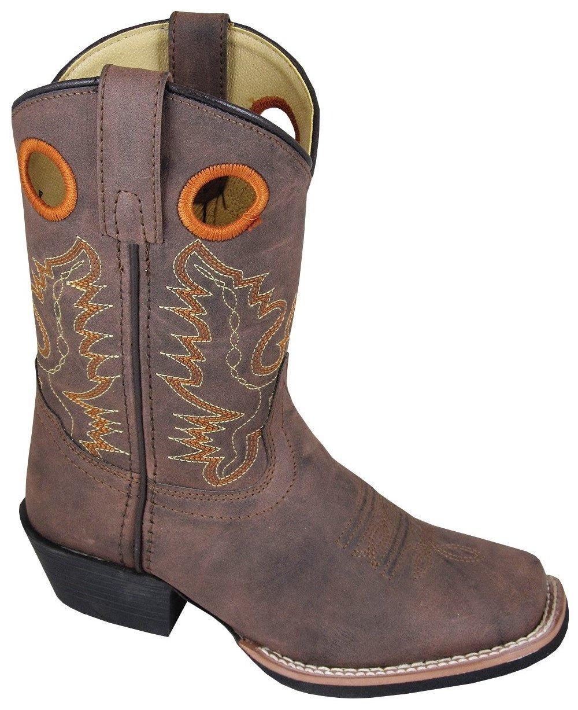 Smoky Mountain Childs Memphis Sq Toe Boot Tan/Light Tan B00NY10CN2 6 M US Big Kid Brown