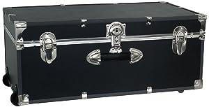 Seward Trunk Wheeled Footlocker, Black