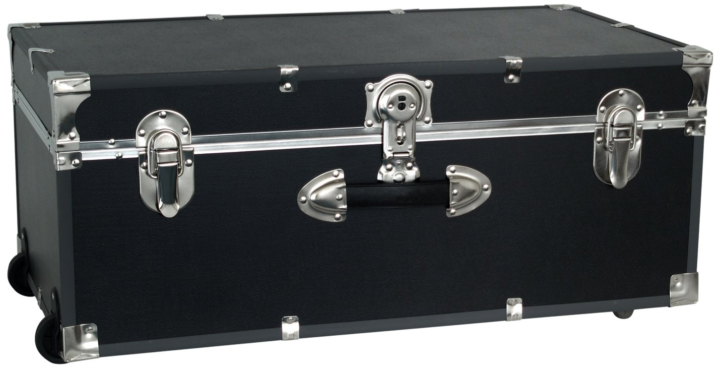 Seward Trunk Wheeled Footlocker, Black by Seward Trunk