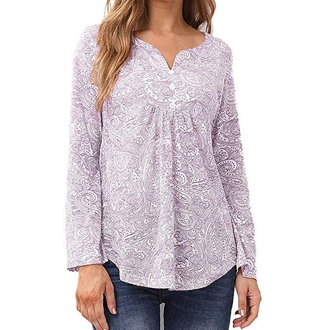 Amazon.com: Londony camisa campesina, blusa suelta de manga ...