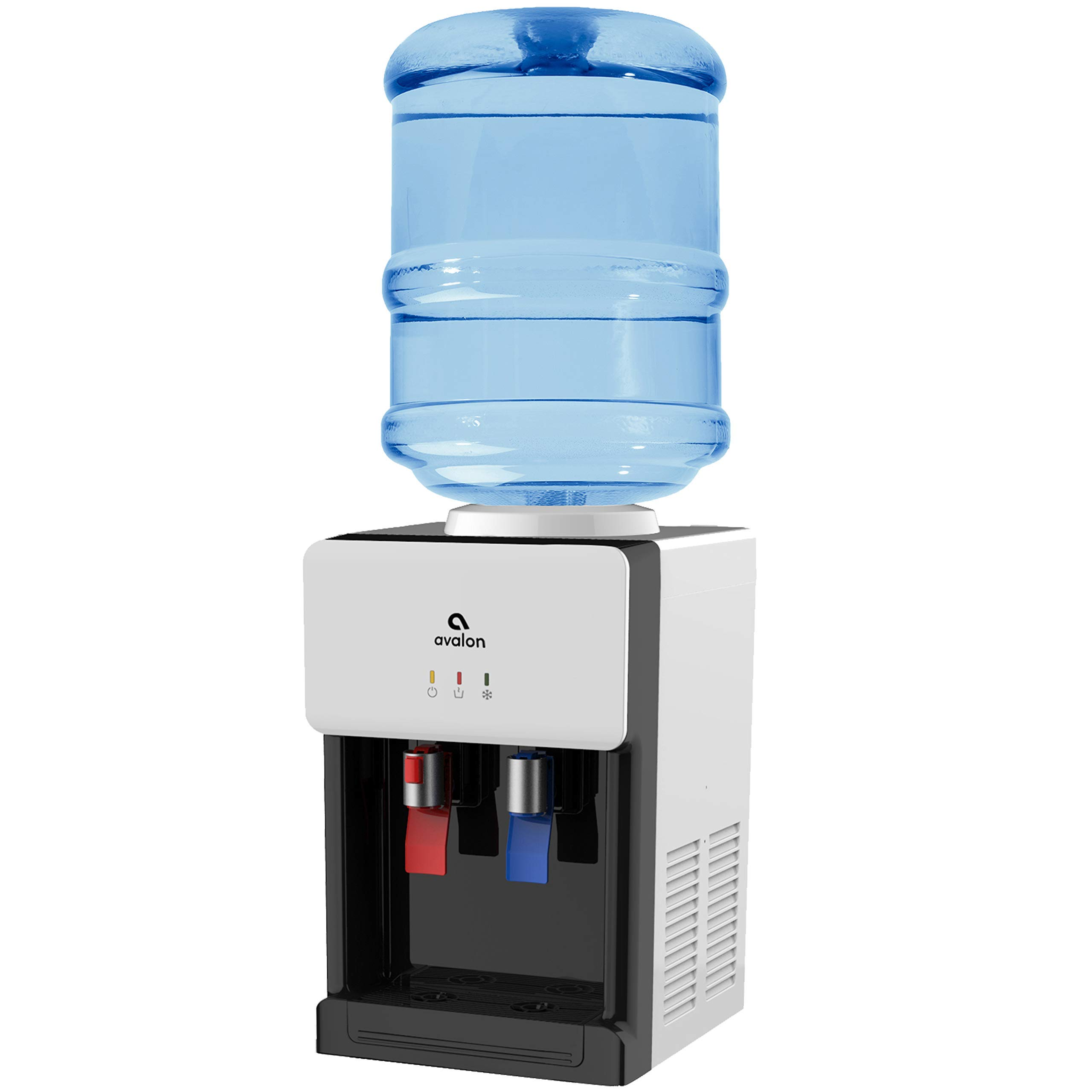 Avalon Premium Hot/Cold Top Loading Countertop Water Cooler Dispenser With Child Safety Lock. UL/Energy Star Approved- White - A1CTWTRCLRWHT (Renewed) by Avalon