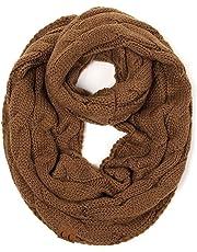 STZHIJIA Nueva Bufanda De Punto Suave Mujer Infinito Pañuelo Cuello Redondo Bufanda Bufanda Cálido Invierno Mujer