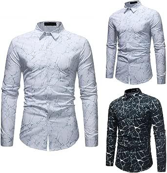 Winwintom -Camisas Hombre Camisa para Hombre, Manga Larga Personalidad Slim Fit Casual, Camisas Hombre Manga Corta M L XL 2XL 3XL, Ultra Hombre Camisa De Lino Sin Cuello: Amazon.es: Ropa y accesorios