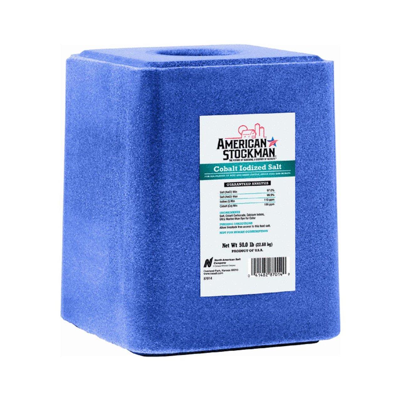 North American 87014 Cobalt Iodized Salt Block, 50 Lb