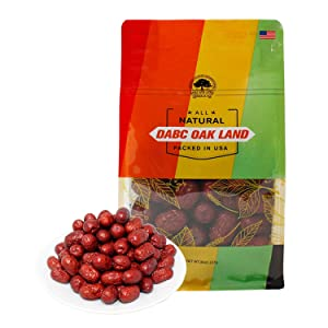 DOL Dried Chinese Red Dates Jujube Dates Hong Zao 紅棗,Grocery & Gourmet Food Snack Foods Dried Fruit & Chinese Food - in bag (Medium 8oz/bag)
