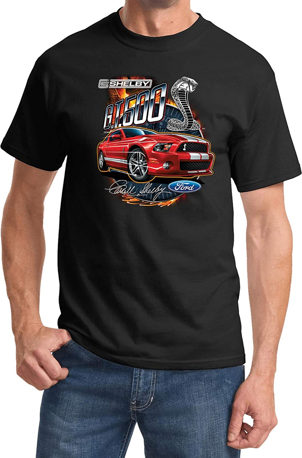 Amazon com ford mustang t shirt red shelby gt500 clothing