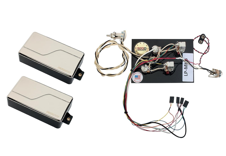 Fishman Fluence Modern Humbucker Pickup Set Nickel Pre Wired Les Paul Wiring Harness Prewired Musical Instruments