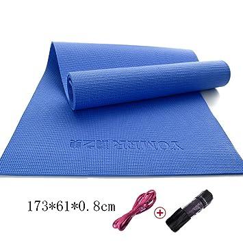 8mm de espesor de PVC antideslizante insípido Yoga Mat ...