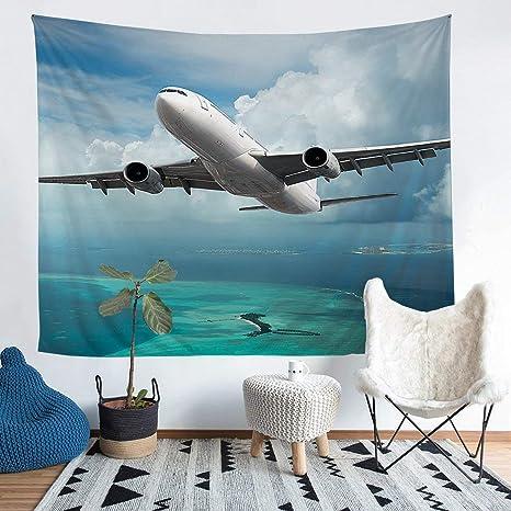 Amazon Com Tapiz Para Colgar En La Pared Diseño De Aviones En 3d Para Niños Niñas Aviones Voladores Decoración Del Océano Decoración Del Mar Para Dormitorio Sala De Estar Pequeño 51 X 59