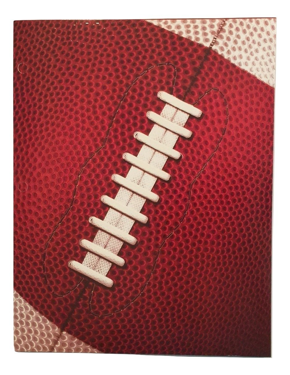 Promarx Two Pocket 3D Sports Folder ~ Football (Textured Cowhide and Lacing)
