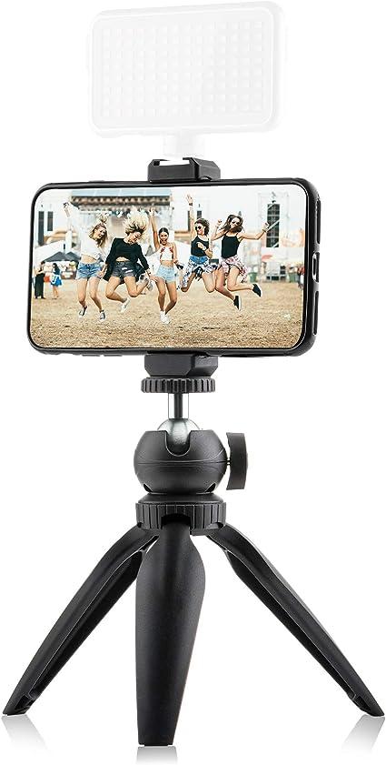 Mini trípode Vlog Kit para smartphone, cámara y GoPro – con soporte para teléfono móvil con soporte Cold Shoe Mount – Mini trípode – Trípode de mesa: Amazon.es: Electrónica