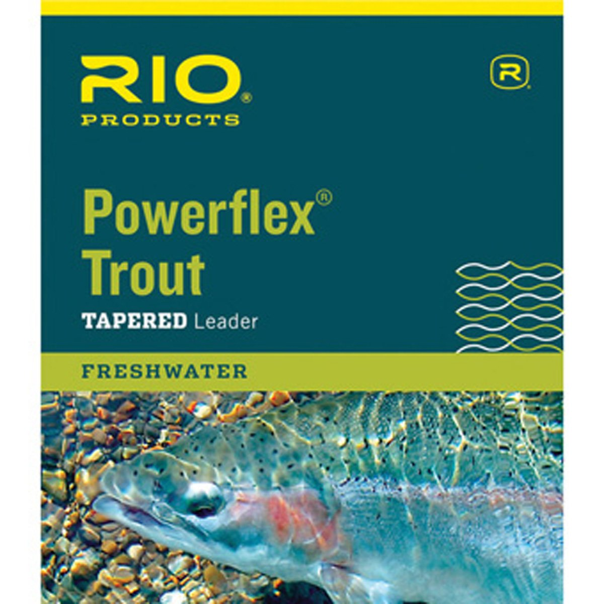 Clear RIO Fly Fishing Leaders Powerflex Knotless 9Ft 2X Leaders 3 Pack Fishing Line