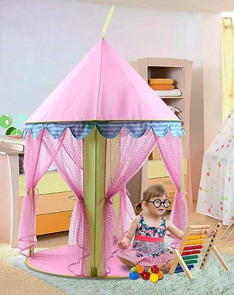 Amazon Com Anyshock Kids Tent Princess Castle Play Tent Girls Pop