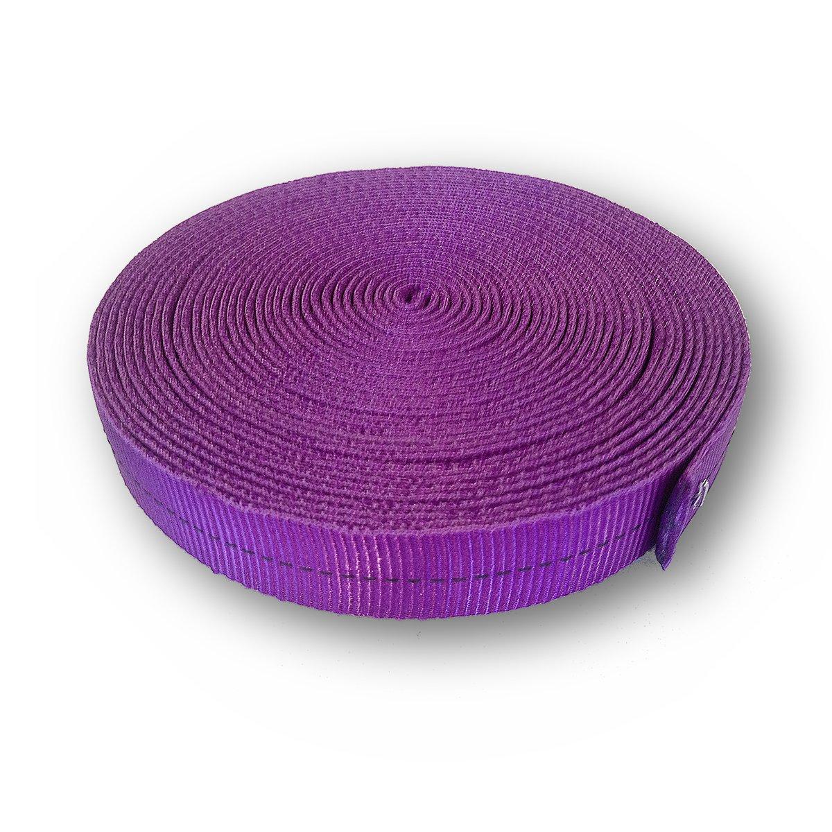 OmniProGear 4000lb MBS Tubular Webbing 1 inch x 10 yards Purple Made in USA