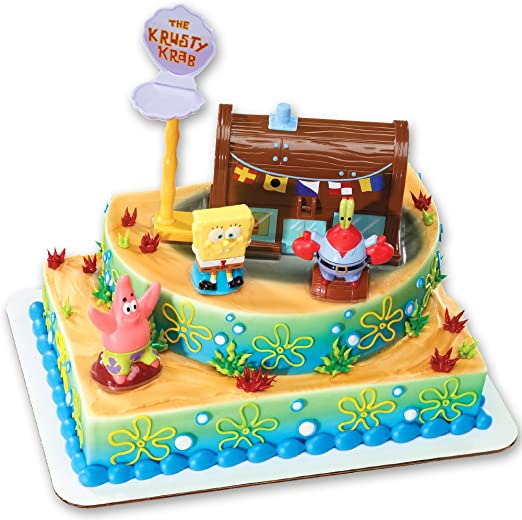 Groovy Spongebob Squarepants And The Krusty Krab Cake Topper Decorating Funny Birthday Cards Online Inifofree Goldxyz