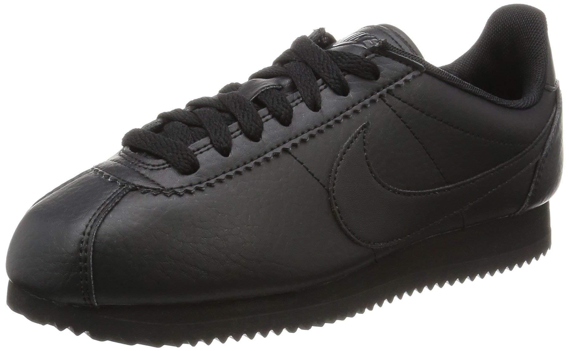 online store a3970 76815 Galleon - Nike Womens Classic Cortez Leather Black White White Casual Shoe  8.5 Women US