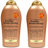 Ogx Conditioner Brazilian Keratin Therapy 19.5 Ounce (576ml) (2 Pack)