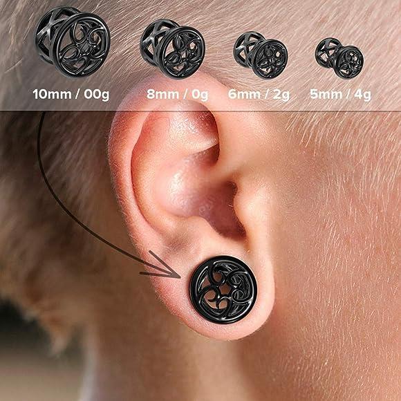 Amazon.com: Bling Piercing Tapones únicos – No Stink negro ...