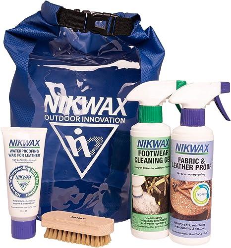 NIKWAX WATERPROOFING KIT:TX.DIRECT,TECH WASH,NUBUCK SUEDE PROOF,WAX FOR LEATHER