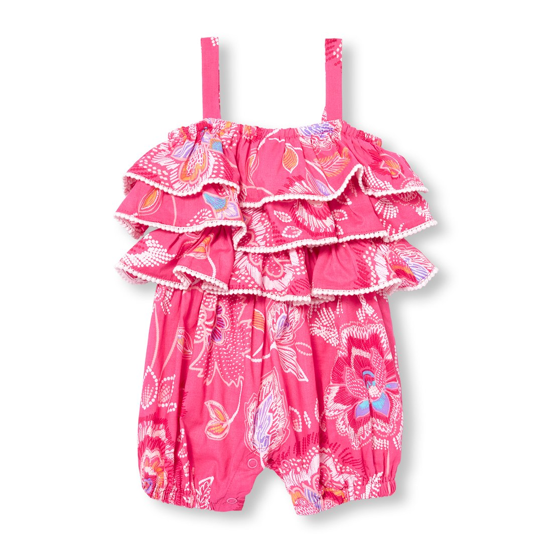 The Children's Place Baby Girls' Sleeveless Romper, Sweet Princess 01534, 9-12MOS