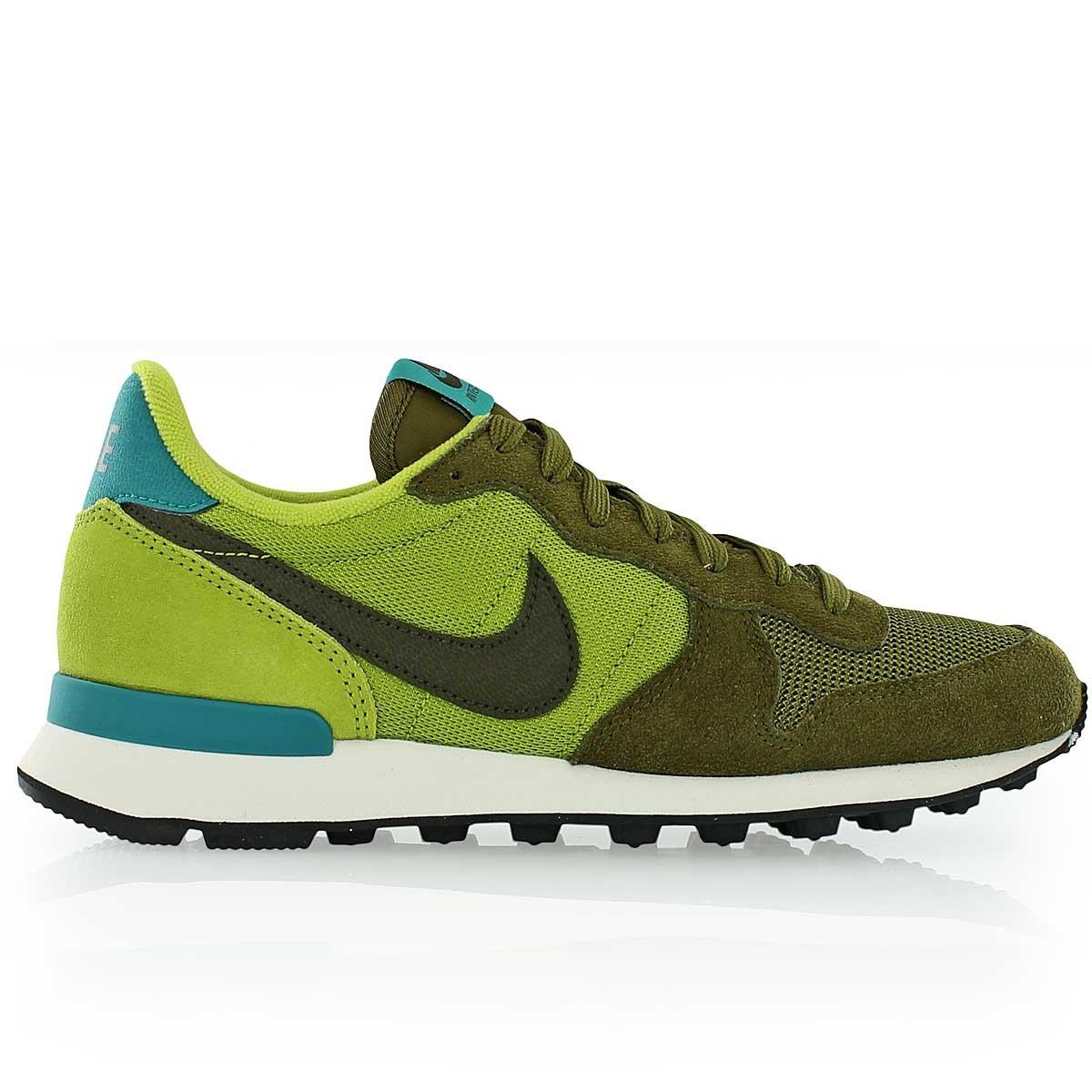 best service 9c8a3 7e204 Nike Inernationalist Women s Running Sneaker (5.5, Green)  Amazon.co.uk   Shoes   Bags