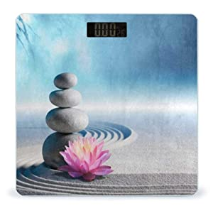 Weight Scale Sand Lily Spa Stones in Zen Digital Scales for Body Weight Smart Bathroom Weighing Scale for Women Men Ladies Kids Teen Girls Boys Wireless Scale Large