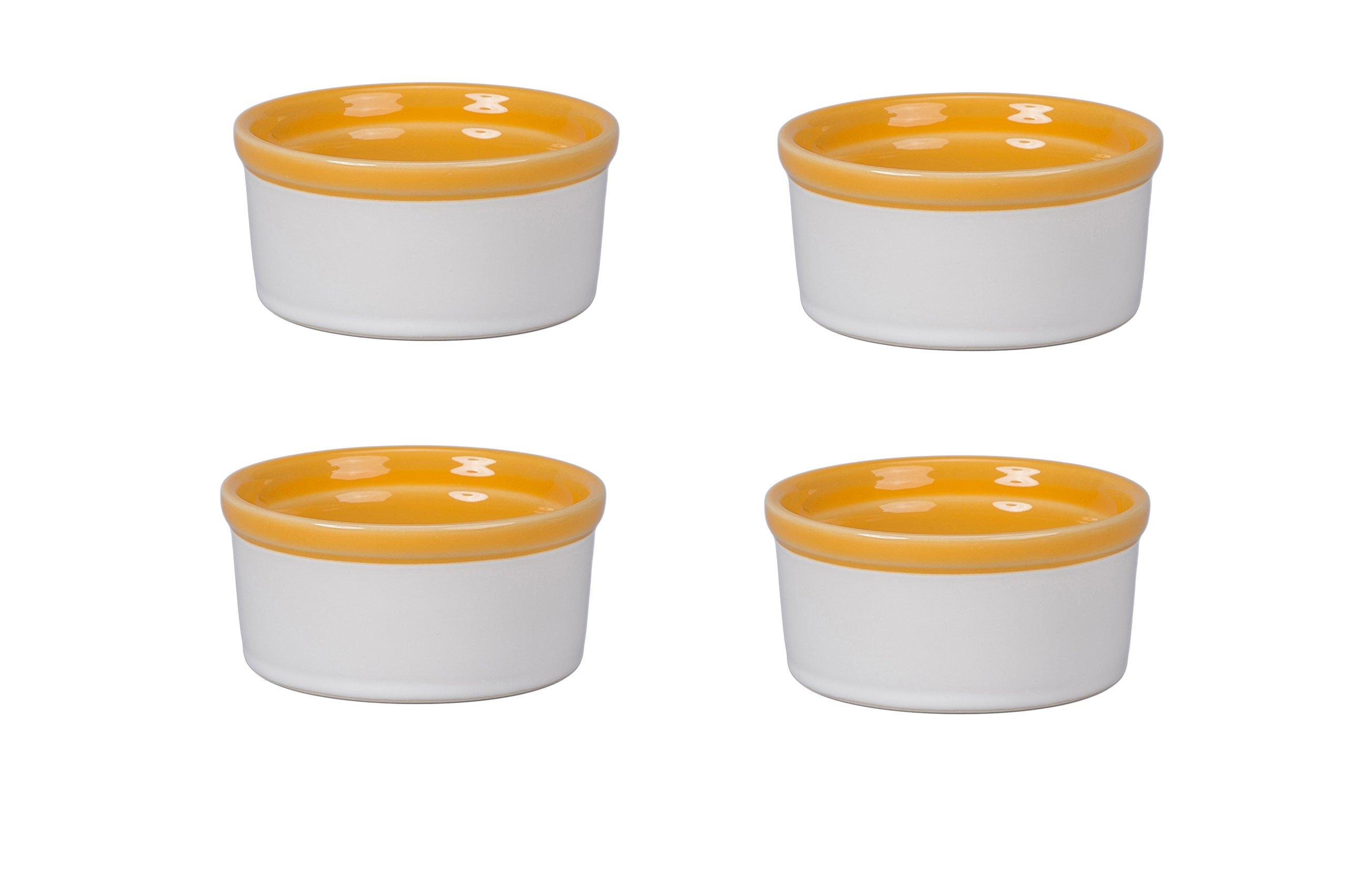 BIA Cordon Bleu 404991+3095S4SIOC Individual Dish Souffle, Yellow/White
