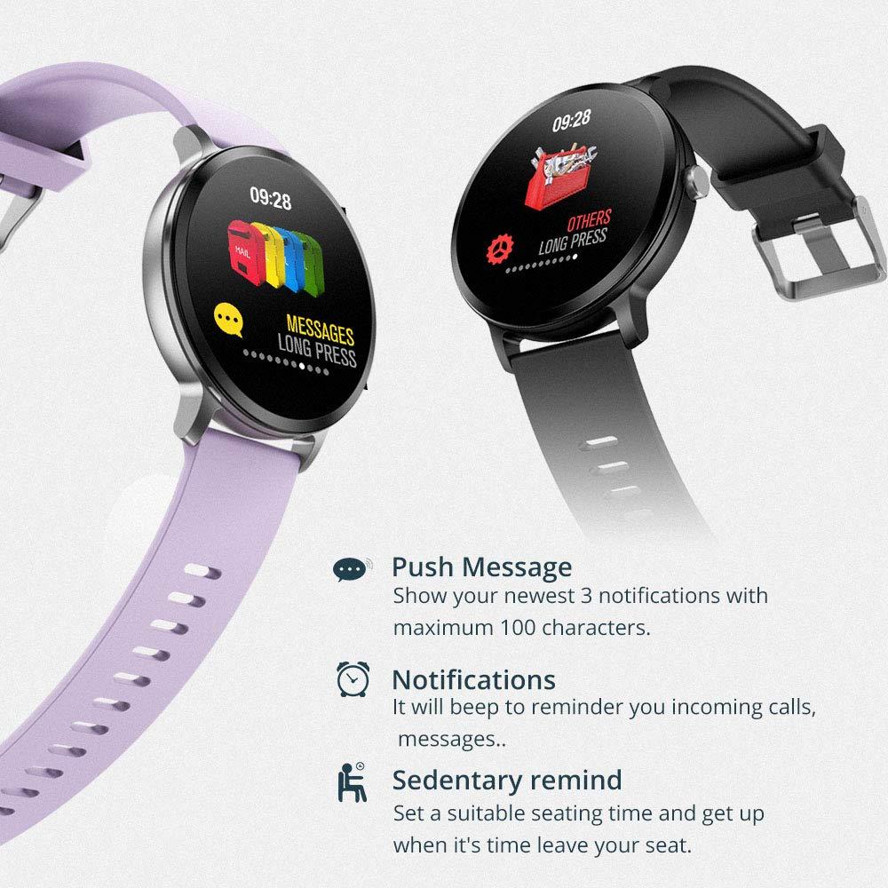 Amazon.com: ALXDR V11 Smart Watch IP67 Waterproof Tempered ...