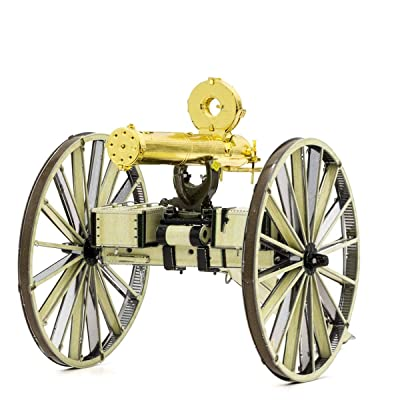 Fascinations Metal Earth Wild West Gatling Gun 3D Metal Model Kit: Toys & Games