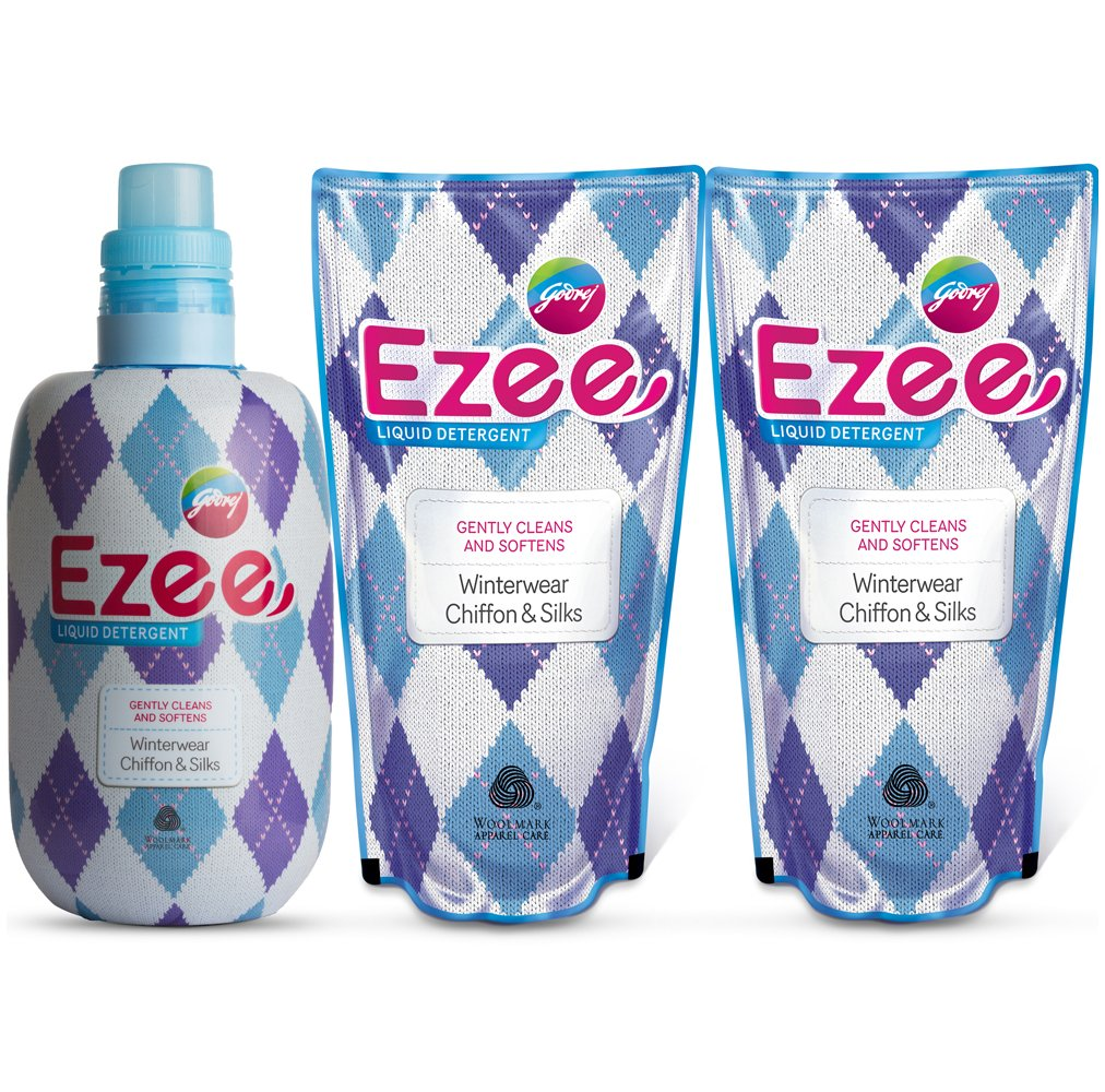 Buy Godrej Ezee Liquid Detergent - 1 kg with Two Refills - 1 kg (3 ...