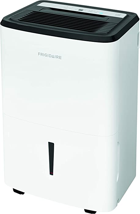 Frigidaire High Efficiency 50-Pint Dehumidifier with Built-in Pump, White