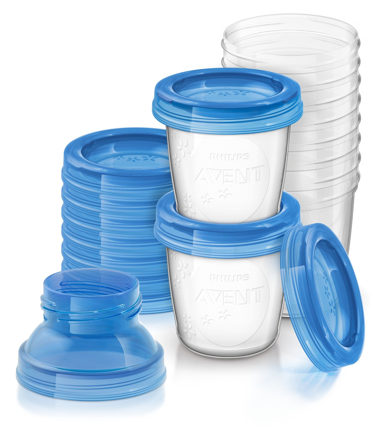 Philips AVENT Breast Milk Storage Cups, 6 Ounce (Pack of 10) by Philips AVENT