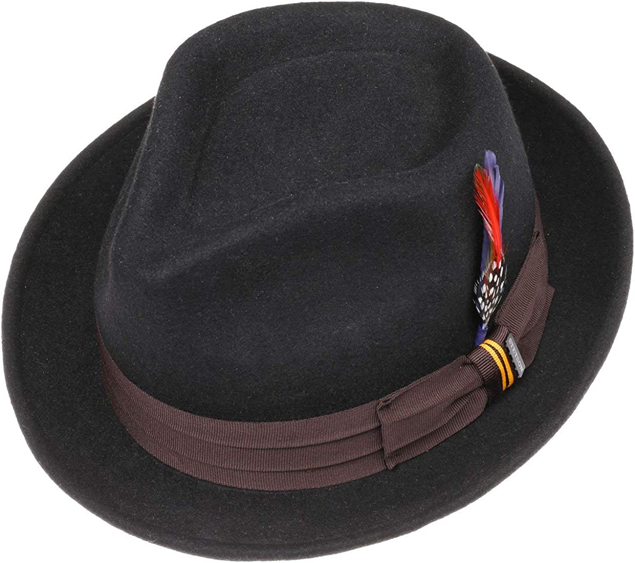 Outdoor Fedora rain with Grosgrain Band Summer-Winter Stetson Valema Player Hat Wool Felt Men