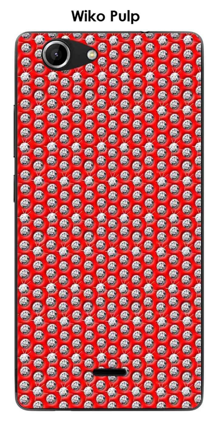 Onozo Carcasa Wiko Pulp Design Diamantes sobre Fondo Rojo ...