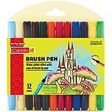 Camlin Kokuyo Brush Pen, 12 Shades (Multicolor)