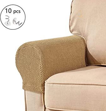 2x Sofa Armrest Cover Spandex Fabric for Couches Armchairs Recliners Arm