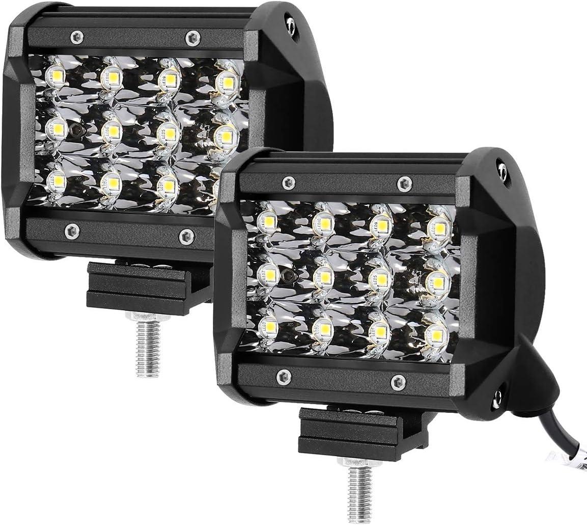 LE Lighting EVER Projecteur Phare LED, 36W Lampe de Travail 6000K IP67 Imperméable, Feu Travail LED Eclairage pour Chantier, Voiture, Camion, SUV, etc
