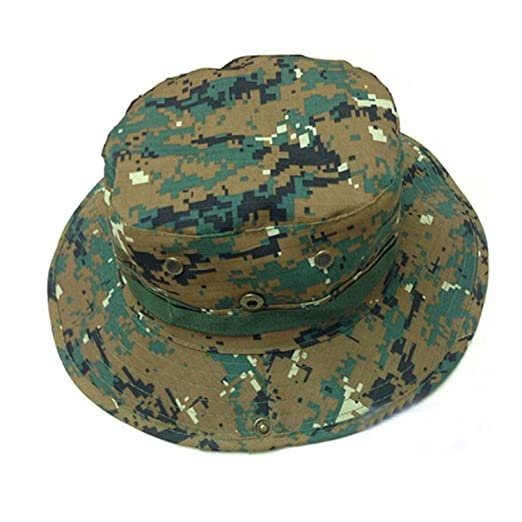 ed091fdd928a91 1PC New Unisex One Size Colorful Bucket Hat Boonie Hunting Fishing Outdoor  Cap Wide Brim Military
