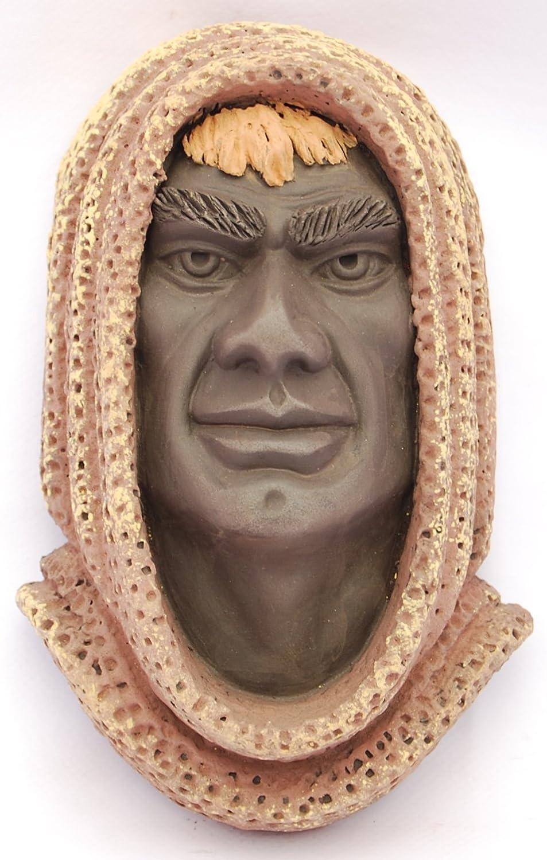 Máscara de SORGO mediana en color de cerámica artesanal