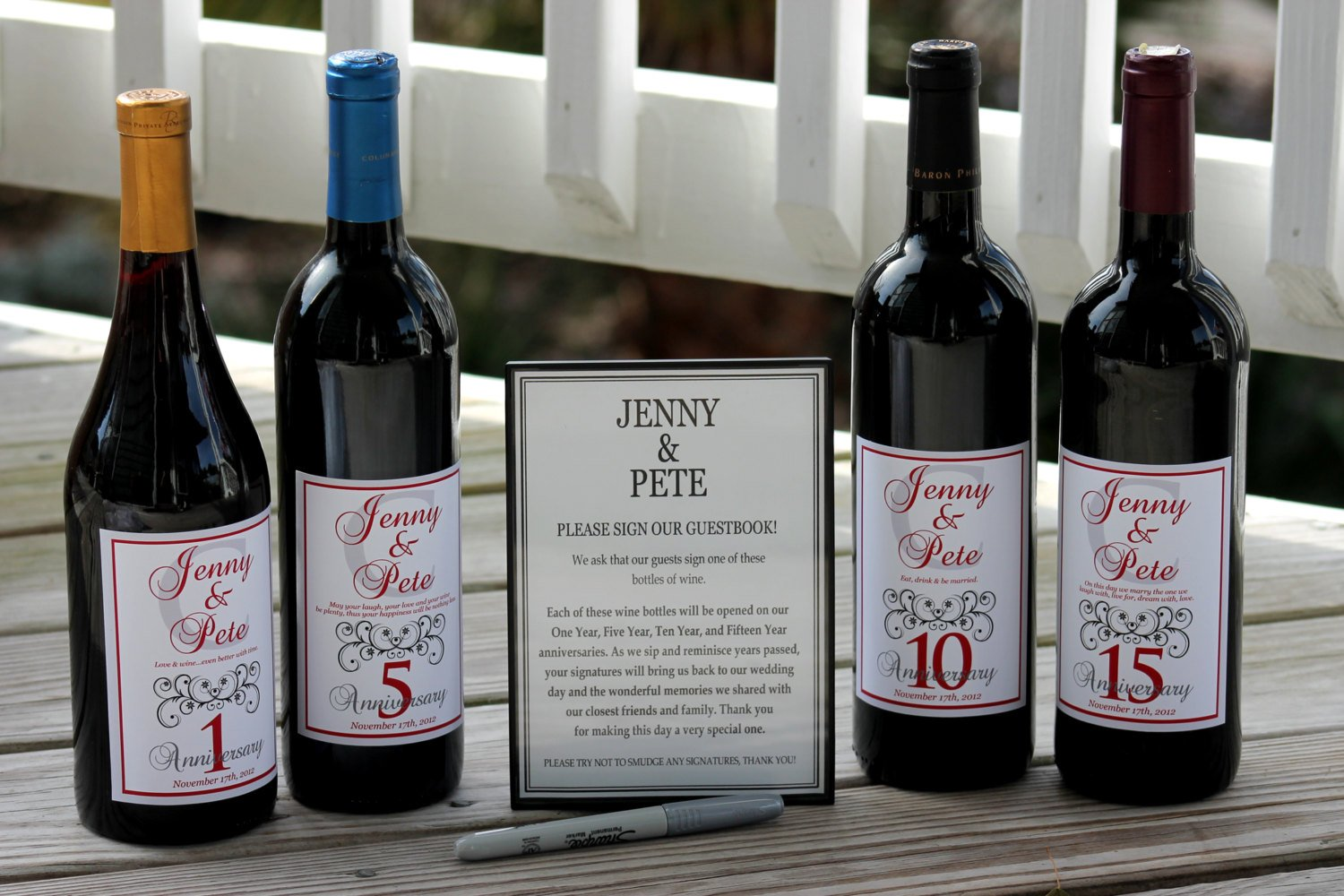 Amazon Wine Labels Wedding Guest Book Kit Wine Kit For